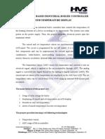 HVS-355. Solar Based Industrial Boiler Controller