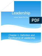 Leadership art and science chap 1234