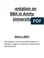 Presentation on BBA in Amity University