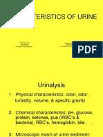 Urine Characteristics & Urinalysis