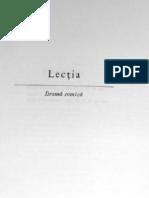 Eugen Ionescu - Lectia
