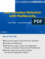 Web Intrusion Detection With ModSecurity
