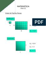 Matemática - Aula 22 - Área de Figuras Planas