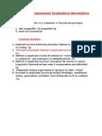 Structura Examenului Gramatica Normativa