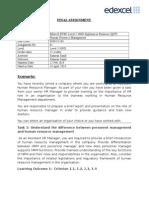 Human Resource Management Assignment_14!02!2014