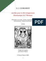 Enseignement Gurdjieff
