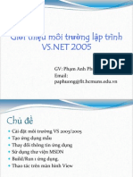 CSharp Week 2B vs NET 05 Introduction