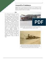 Historia Del Ferrocarril a Catalunya