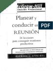 Planear y Conducir Una Reunion