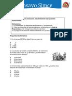 Ensayo+Simce+N°2 MATEMATICA 4 BASICO