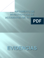 Evidencias en Los Accidentes de Transito