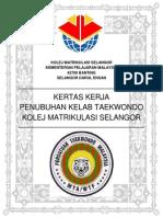 Kertas Kerja Penubuhan Kelab Taekwondo-kms