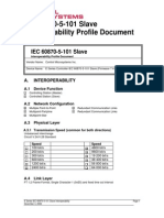 E Series IEC60870-5-101 Slave Interoperability
