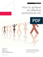 How to Achieve an Effective Promotion Mix