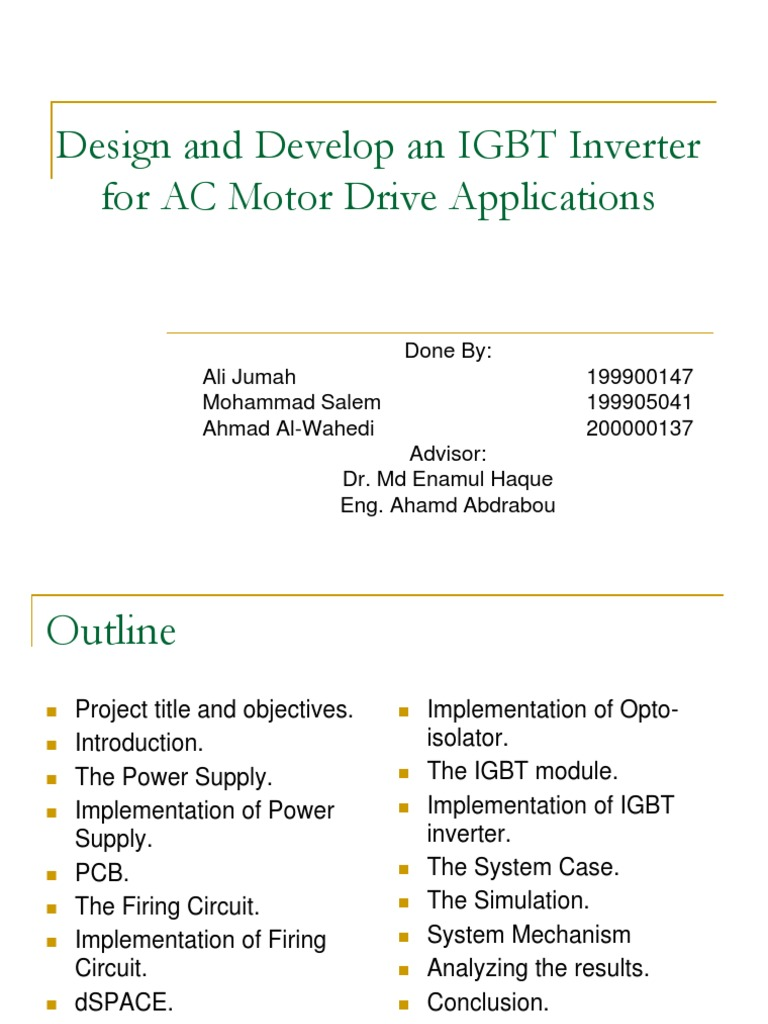 Design And Develop An Igbt Inverter For Ac Motor Drive Applications How To Buildan Testerdiagram Power Printed Circuit Board