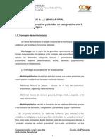 Bloque II. Tema 3. Correccion y Claridad en La Expresion Oral II. Nivel Morfologico