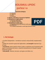 Curs Nr 7 Metabolismul Lipidic