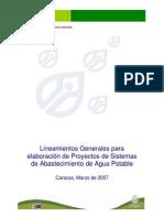 Lineamientos Proyectos Agua Potable 2007
