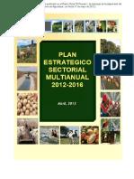 Plan Estretegico Multianual Agricultura 2012-2016