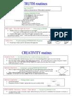 Truth & Creativity Routines