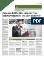 Peña Nieto y Libre Comercio Alianza Del Pacifico