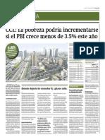 PERU PBI Crece Menos 2014 CCL