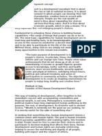 The Human Development Concept