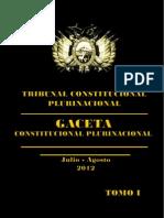 Tribunal Constitucional Plurinacional Sentencias Constitucionales 2012 Tomo 1