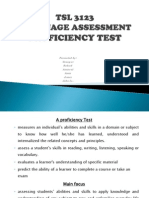 P2 Proficiency Test