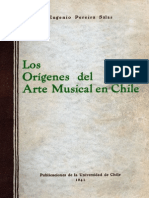 Origenes Del Arte Musical Chileno
