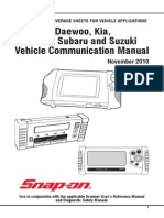 AUS Daewoo, Daihatsu, Hyundai, Kia, Subaru, Suzuki Vehicle Communication Software Manuals