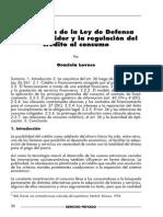 La Reforma de La Ley de Defensa Del Consumidor y La Regulación Del Crédito Al Consumo