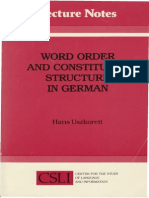 Word Order and Constituent Structure in German