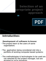 Selection of appropriate project approach-spm