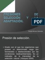 Presiones de selección y la adaptación clmnt.ppt