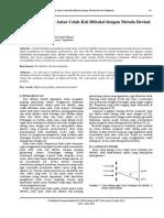 Full-pengukuran Jarak Antar Celah Kisi Difraksi Dengan Metoda Deviasi Minimum