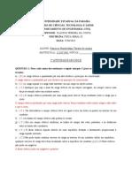 RESPOSTA - F III - Atividade 2 Moodle
