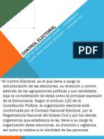 Control Electoral