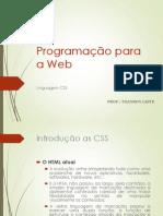 Programação Para Web - CSS