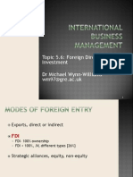 Topic 5.6 Foreign Direct Investment