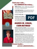 Craig - EANGUS Secretary Campaign Flyer