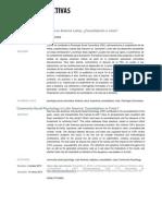 La Psicología Social Comunitaria en América Latina, Consolidación o Crisis.