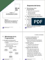 Transparencias Tema 1 Metodología de la Programación