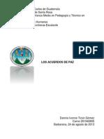 Proceso de Los Acuerdos de Paz en Guatemala