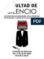 "Cartel Exposición ""Facultad de Silencio"" (UAH)"