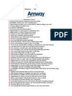 101 Benefits of Amway Business