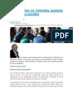 La Educación en Colombia Aumenta Las Brechas Sociales
