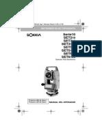 Manual Sokkia Series10