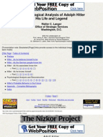 Psychology - Psychological Analysis Of Hitler