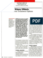 Urinary Lithiasis, Current Treatment Options